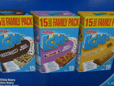 NEW Kellogg's LCMS Variety Pack 45 bars 1.005KG from Fairdinks