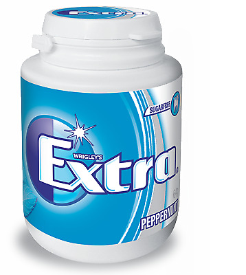 NEW Wrigley's Extra Sugarfree White Gum 6 x 64g Bottle from Fairdinks