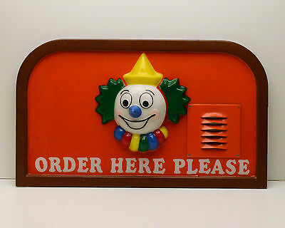 Jack in the Box Restaurant Sign Clown RARE! Drive Thru Vintage c1970's