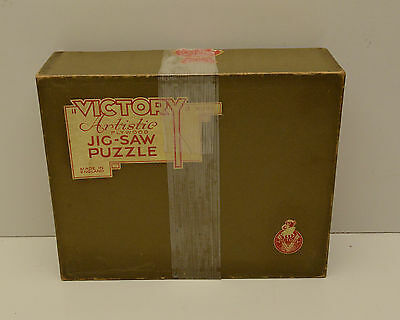 Vintage Puzzle Victory Artistic Wood Made in England A Good Story Outdoor