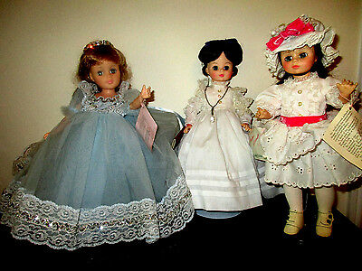 Lot of (3) dolls Vtg Madame Alexander doll collection w/ tags a Great Gift!