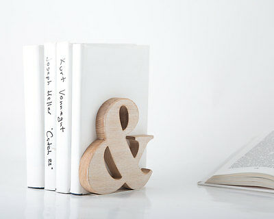 Atelier Article - Gift Steel Wood bookend - Ampersand (White)