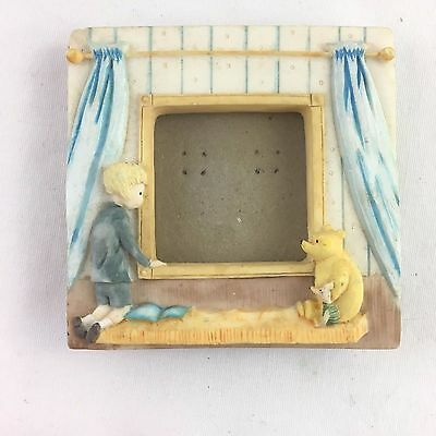 "Classic Winnie the Pooh Piglet Picture Frame Holds 1.5"" X 1.5"" Nursery Disney"