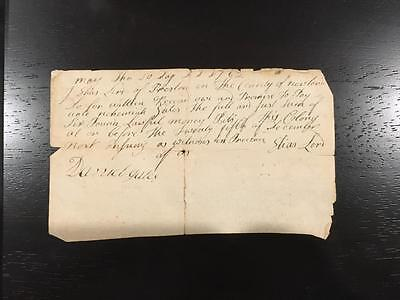 Lot of 2 Connecticut Pay Documents 1762 Preston Norwich New London