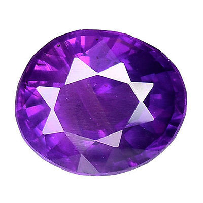 0.755 Cts Magneitc Luster Unheated Untreated Violet Natural Sapphire Oval