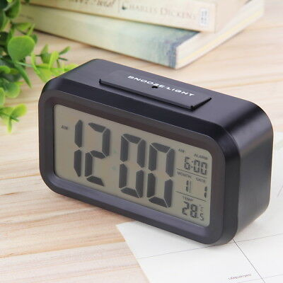 Led Digital Electronic Alarm Clock Backlight Time With Calendar+Thermometer RX#