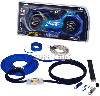 Brand New Stinger Sk6241 4 Gauge 6000 Series Power Amplifier Installation Kit