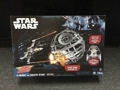 NEW Sealed Air Hogs STAR WARS RC X-wing vs.Death Star Rebel Assault RC DRONE