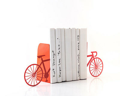 Atelier Article - Gift Steel bookends - Bike (Red)