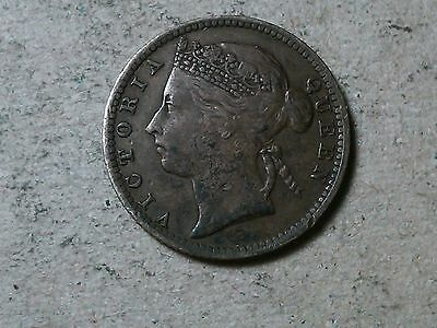 Straits Settlements. 10 cents . Queen Victoria. 1891. British colony