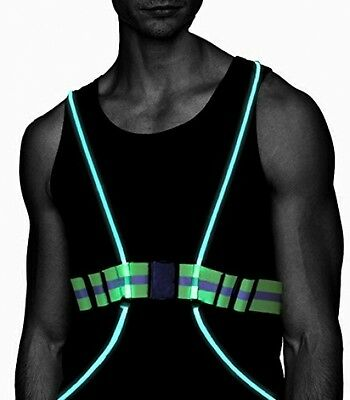 LED Running Vest Belt 360 Deg High Visibility Reflective Safety Running Cycling