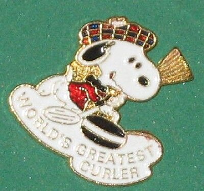 SNOOPY - World's greatest CURLER - Lapel type pin
