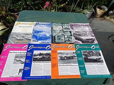 Vintage Journey With Olds Magazine -1998 - 8 issues.- May thru December
