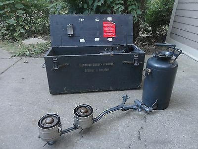 Swiss Army double burner stove very good condition with spare parts and tools