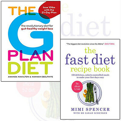 Fast Diet Recipe Book Collection 2 Books Set (The G Plan Diet) Paperback NEWPack