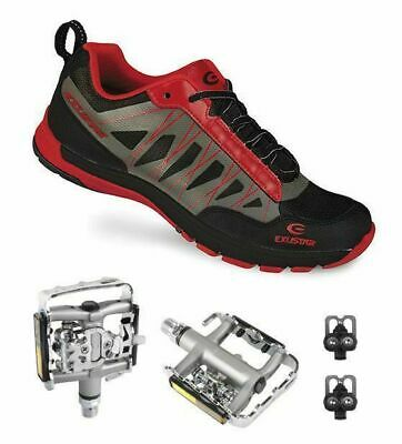 EXUSTAR E-SM825 Shimano SPD Type Mountain Bike shoes Multi-Use Pedals Cleats
