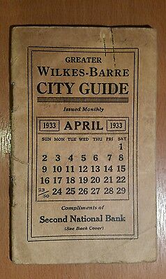 1933 Great Wilkes-Barre City Guide