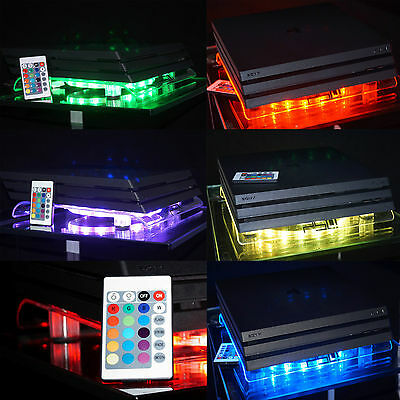 Multicolor Playstation 4 PS4 PRO Gamer RGB LED USB Design Cooling Fan Stand