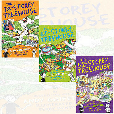 Treehouse Books Series Collection 3 Books Set By Andy Griffiths (78-Storey)New