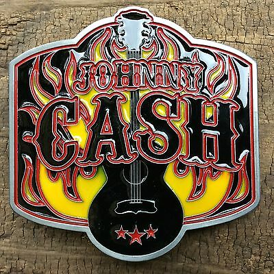 Belt Buckle 'johnny Cash' Music Rockabilly Kustom Kulture