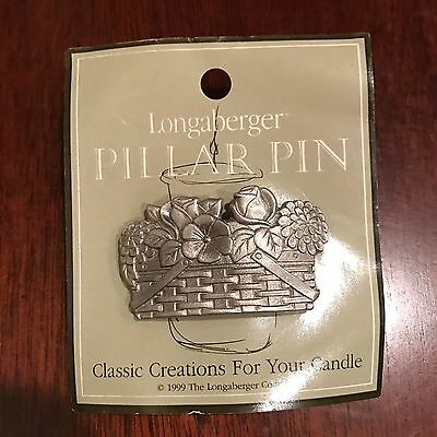 Longaberger 1999 RARE Pewter Pillar Pin Fruit Basket