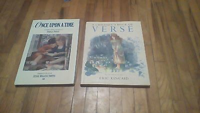 Lot of 2 Hardcover-Once Upon a Time,A Children's Book of Verse