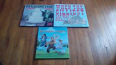 Lot of 3 Hardcover Children's Books-El baston magical,Silliest Cat and more
