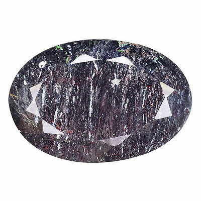 11.550 Cts Flawless Outstanding Luster Black Natural Rutilaed Quartz Oval