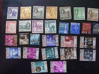 Malta group of used stamps 1950s - 1960s