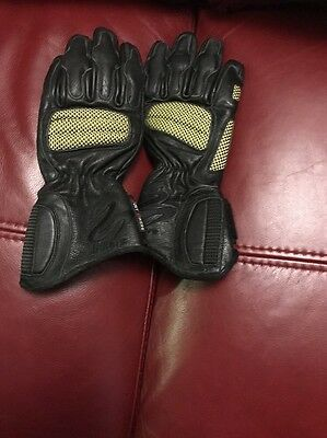 Men's Motorcycle Gloves Leather XS Black Nowt