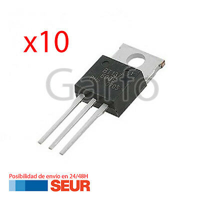 10X Triac Bt137/600 600V 8A To-220