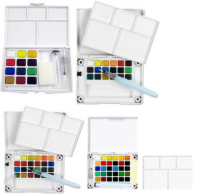 Koi Watercolor Paint 12 - 30 Colors Set With Brush Sketch Drawing Painting