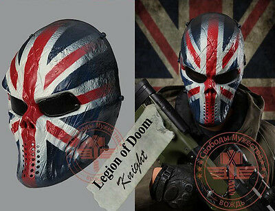 England knights - military full face protection - Halloween mask, Tactical Gear