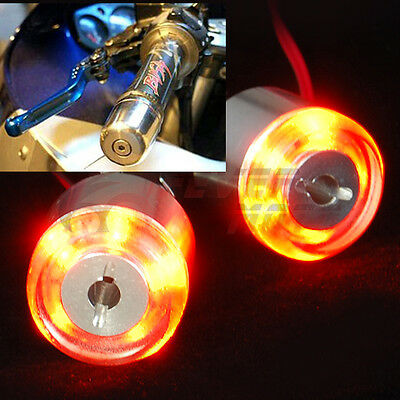 AU 2X 7/8'' Motorcycle Handle Bar End LED Turn Signal Light Amber For Yamaha FM