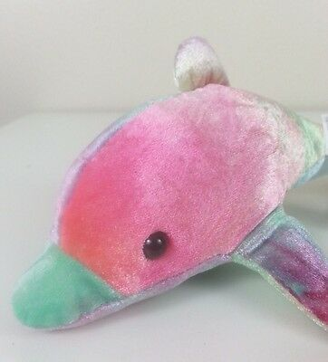 Hanging Dolphin Plush Stuffed Animal Pastel Tie Dye Carousel Toy Company 1999