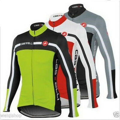 Long sleeves cycling jersey winter thermal cycling clothing bike sport jersey
