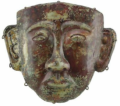 Liao dynasty 907–1125. Bronze mask Khitan. Extremely Rare! Not a fake !