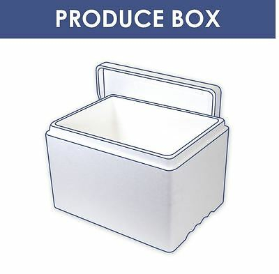 2x 23L Litre POLYSTYRENE Cool/thermo Fish/Meat Transport Box - Poly Box With Lid