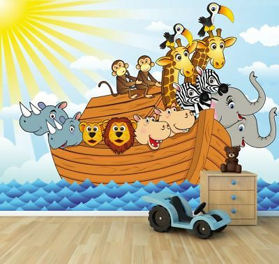 Fototapete Arche Noah Cartoon Kindertapete
