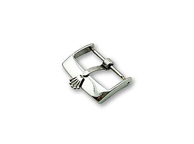 Stainless Steel Buckle Clasp for Rolex Leather Strap Watch SILVER 16mm 18mm