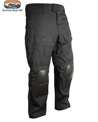 Black Spec Ops Military Combat Trousers with Knee Pad Small - 2XL Airsoft
