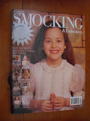 Australian Smocking & Embroidery Magazine - Issue 44 - 1998 - Rare Find