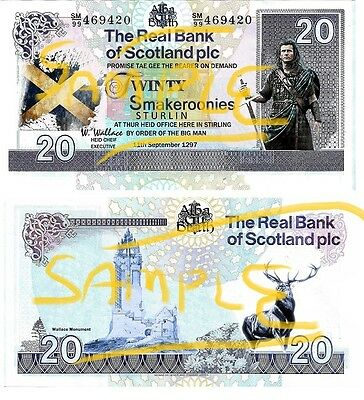 Special Edition Novelty William Wallace / Braveheart Smakeroonies Bank Notes