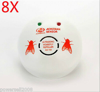 8 X 2012 New Model Garden And Home Electronic Ultrasonic Flies Repeller
