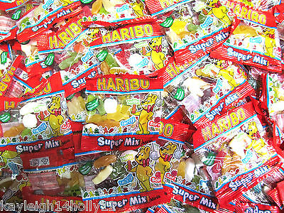 WHOLESALE~JOBLOT~400x bags HARIBO SUPER MIX minis~CHEWY SWEETS~jellies~BBE 05/16