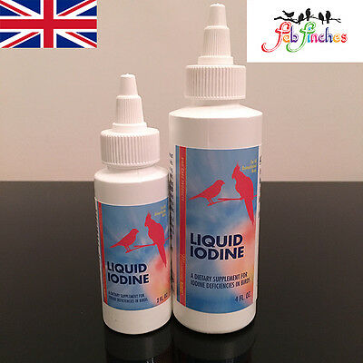 Morning Bird IODINE In Water Vitamin Supplement Balding Moult Treatment Birds