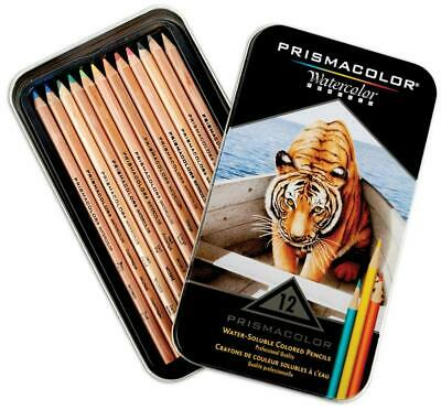 Premiere Water-Soluble Colored Pencil - Set of 12 - Prismacolor Free Shipping!