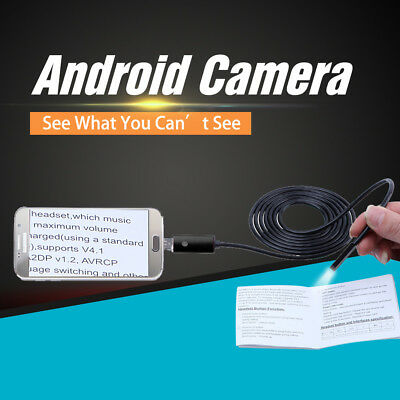 5/7/8mm 1-10M Android  Endoscope 6LED USB Waterproof Borescope Inspection Camera