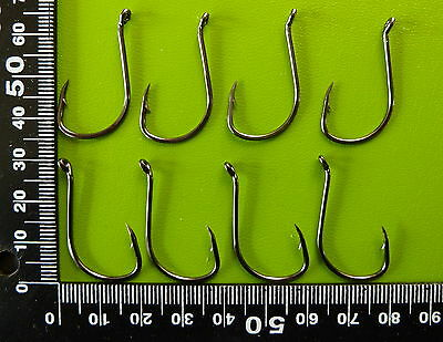 100 DFS size 3/0 Octopus BEAK Fishing Hooks Chemically Sharp black nickel