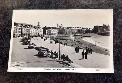 Old Postcard Of The Promenade And Beach At Aberystwyth
